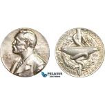 AC533, Sweden, Silver Medal 1982 (Ø26.6mm, 13.0g) Alfred Nobel, Swedish Medical Society