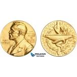 AC535, Sweden, Gilt Silver Medal 1985 (Ø26.6mm, 13.0g) Alfred Nobel, Swedish Medical Society