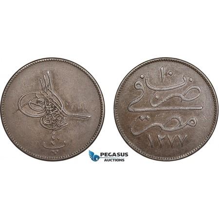 AC558, Ottoman Empire, Egypt, Abdulaziz, 40 Para AH1277/10, Misr, XF-AU