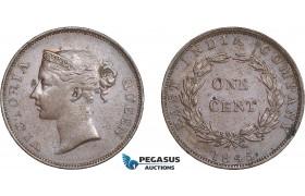 AC569, Straits Settlements, Victoria, 1 Cent 1845, AU