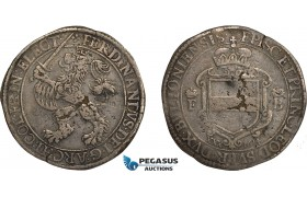 AC577, Belgium, Liege, Ferdinand of Bavaria, 30 Patards 1614, Hasselt, Silver (14.51g) VF-XF (Flaws) Rare!