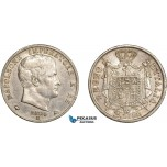 AC582, Italy, Napoleon, 2 Lire 1809-M, Milan, Silver, aXF
