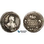 AC588, Russia, Elisabeth, Grivennik 1745, Moscow, Silver, VF