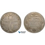 AC595, Russia, Paul I, Rouble 1798 СМ-МБ, St. Peterburg, Silver, Toned VF
