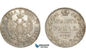 AC601, Russia, Nicholas I, Rouble 1842 СПБ-АЧ, St. Petersburg, Silver, Lustrous AU