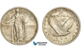 AC608-R, United States, Standing Liberty Quarter (25C) 1923, Philadelphia, Silver, AU