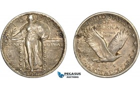 AC609-R, United States, Standing Liberty Quarter (25C) 1925, Philadelphia, Silver, Toned XF