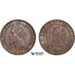 AC620, France, Napoleon III, 5 Centimes 1861-K, Bordeaux, AU
