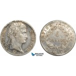 AC643, France, Napoleon, 5 Francs 1811-W, Lille, Silver, Polished AU