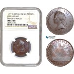 AC712, Great Britain, James Stuart Prince of Wales, Bronze Medal 1697, MI-194-503, NGC MS62BN