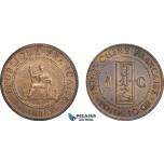 AC759, French Indo-China, 1 Centime 1888-A, Paris, AU