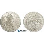 AC771, Poland, Johann Casimir, 6 Groschen (Szostak) 1659 TL-B, Cracow, Silver, XF (Scrached)