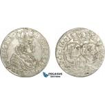 AC773, Poland, Johann Casimir, 6 Groschen (Szostak) 1661 T-T, Bydgoszcz (Bromberg), Silver, XF-AU