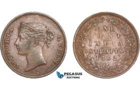 AC787, Straits Settlements, Victoria, 1 Cent 1862, aXF