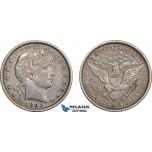 AC789, United States, Barber Quarter (25C) 1893-S, San Francisco, Silver, XF
