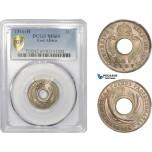 AC791, British East Africa, George V, 1 Cent 1916-H, Heaton, PCGS MS65