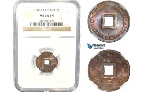 AC810, French Indo-China, 2 Sapeque 1888-A, Paris, NGC MS65BN