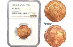 AC812, German East Africa (DOA) Pesa 1891, Berlin, NGC MS66RD