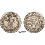 AC849, Lithuania, Sigismund II August of Poland, 4 Groschen 1565, Vilnius, Silver (4.06g) VF