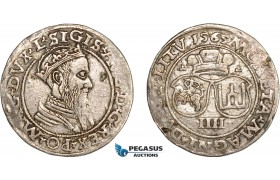 AC849, Lithuania, Sigismund II August of Poland, 4 Groschen 1565, Vilnius, Silver (4.06g) VF