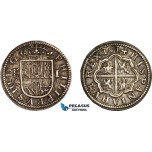 AC855, Spain, Philip III, 1 Real 1614, Segovia, Silver (3.18g) Toned AU