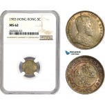 AC875, Hong Kong, Edward VII, 5 Cents 1903, Silver, NGC MS62