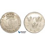 AC899, Sweden, Karl XI, 5 Öre 1690, Stockholm, Silver (3.44g) Some flaws, VF