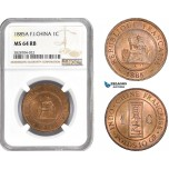 AC978, French Indo-China, 1 Centime 1885-A, Paris, NGC MS64RB