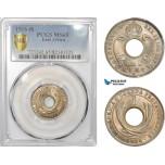 AD003, British East Africa, George V, 1 Cent 1916-H, Heaton, PCGS MS65