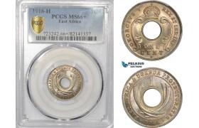 AD004, British East Africa, George V, 1 Cent 1916-H, Heaton, PCGS MS66+