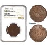 AD007, China, Kiangnan, 10 Cash 1908, NGC MS61BN