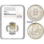 AD008-R, Estonia, 1 Kroon 1933, Silver, NGC MS64