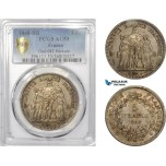 AD013, France, Second Republic, 5 Francs 1848-BB, Strasbourg, Silver, PCGS AU53