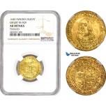 AD048, Sweden, Kristina, Ducat 1645, Riga or Erfurt, Gold, NGC AU Details