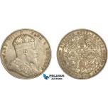 AD079, Straits Settlements, Edward VII, 1 Dollar 1908, Bombay, Silver, XF