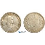 AD083, Switzerland, 5 Francs 1923-B, Bern, Silver, Toned XF