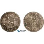 AD084, Transylvania, Gabriel Bathori, 3 Groschen 1609, Silver (2.19g) XF