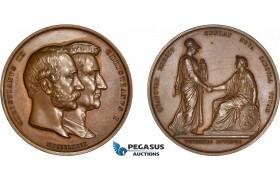 AD086, Denmark, Christian IX, Bronze Medal 1879 (Ø47mm, 68.1g) by Conradsen, Copenhagen University, Owl, Minerva