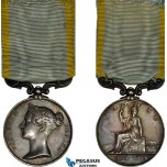 AD098, Great Britain, Victoria, Silver Medal 1854 – 1855 (36mm, 36.8g) by Wyon, Baltic Campaign