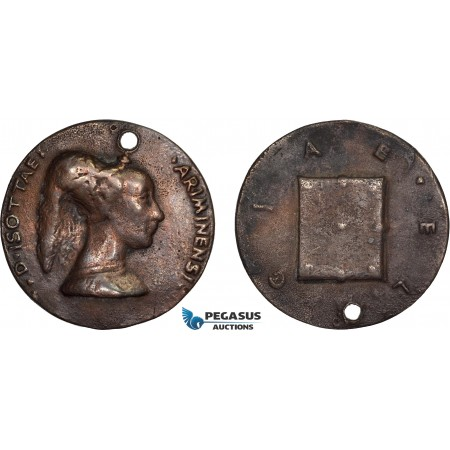 AD099, Italy, Renaissance Bronze Cast Medal ND (Ø42mm, 33.3g) by Matteo de' Pasti, Isotta degli Atti