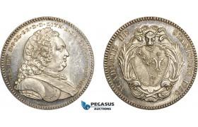 AD101, Poland & France, Silver Medal (1750) (Ø33m, 16.7g) by Borrel, Nancy Stanislas Academy