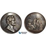 AD104, Sweden, Silver Medal 1848 (Ø57mm, 85g) by Lundgren, Jakob Berzelius, Medicine