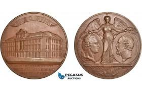 AD106, Sweden, Oscar II, Bronze Art Nouveau Medal 1882 (Ø69mm, 138g) by Lindberg