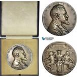 AD112, Sweden, Silver Art Nouveau Medal 1911 (Ø63mm, 129g) by Lindberg, K. A. Wallenberg, Enskilda Bank