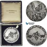 AD116, Sweden, Silver Medal 1929 (Ø50mm, 62g) by Milles, Train, 50 Years of Bergslagen Railroad