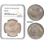AD154, Mexico, 8 Reales 1893 Do ND, Durango, Silver, NGC MS62