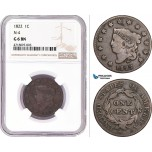 AD176, United States, Coronet Head Cent 1822, Philadelphia, N-4, NGC G6BN