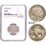 AD179-R, United States, Buffalo Nickel (5C) 1919-S, San Francisco, NGC XF45