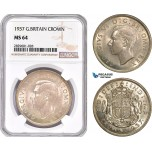 AD217, Great Britain, George VI, Crown 1937, Silver, NGC MS64