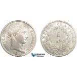 AD264, France, Napoleon, 5 Francs 1811-A, Paris, Silver, Cleaned AU
